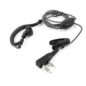1M de cuerpo entero Negro Blanco trenzar la cuerda solo cable Radio del oído del auricular de la suspensión de 8 mm Pitch