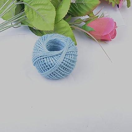 50M 3Ply Burlap Natural Fiber Jute Twine Rope Cord String Craft DIY Decor Gift