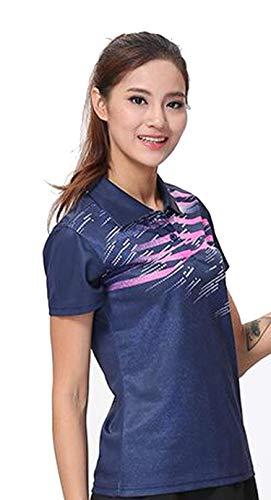 Summer Parent-Child Family Sports Shirt,Badminton Shirt Table Tennis T-Shirt Shuttlecock Jersey Sportwear Clothing Yu64,Women Deepblue Shirt,M (Tennis For Newbies)