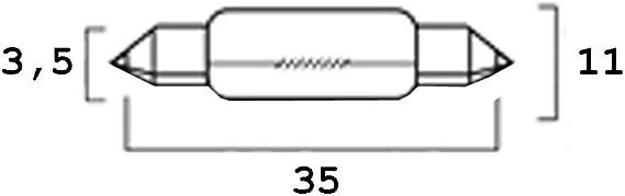 Glühbirne 12v 10w Soffitte Sv8 5 11x40 Auto