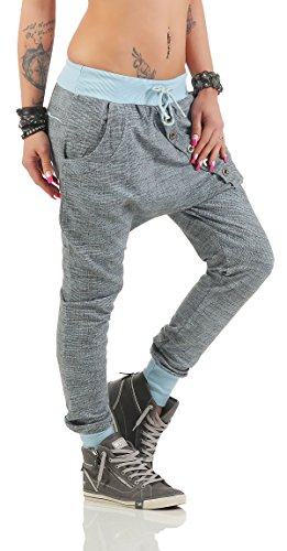 Sportivi Pantaloni Moda Italy Cotone Tuta Donne Della Ragazzo Azzurro Ampia Di Larghi Vestibilità D'avanguardia w5B5rSqxz