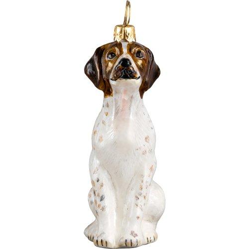 American Foxhound Christmas Ornament - American Foxhound Polish Glass Christmas Ornament Dog Tree Decoration