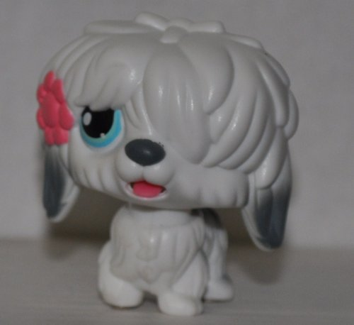Sheepdog #MM2 (Magic Motion: White) - Littlest Pet Shop (Retired) Collector Toy - LPS Collectible Replacement Figure - Loose (OOP Out of Package & Print)