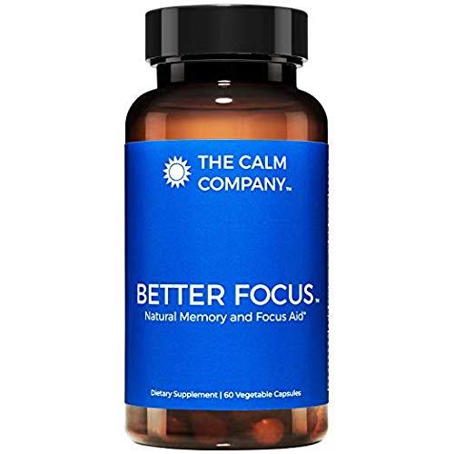 Better Focus – Nootropics Brain Support Supplement – Memory, Clarity, Energy & Focus Pills | Ginkgo Biloba, NeuroFactor, Bacopa Monnieri Root, DMAE, TheaKalm & More | Brain Booster 60 Vegan Caps