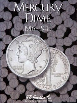 Mercury Dime 1916-1945 Cardboard Coin Folder