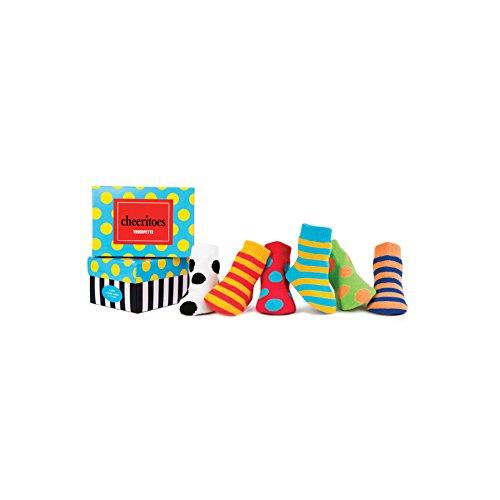 Trumpette Unisex-baby Newborn Bright Cheeritoes Sock Set, Multi, Small(0-12) (Boys Trumpette Socks)
