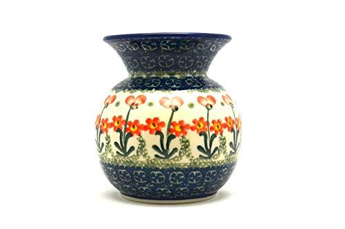 Polish Pottery Bubble Vase - Peach Spring Daisy