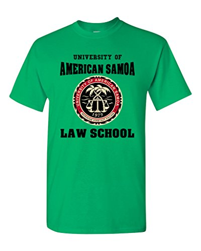 - University of American Samoa Law School DT Adult T-Shirt Tee (Medium, Irish Green)