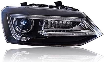 GOWE - Faros Delanteros para VW Polo 2009-2015 con Luces LED para ...