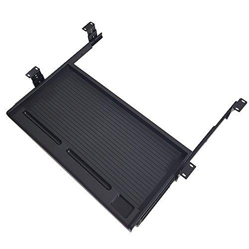 FRMSAET Office Furniture Accessories Keyboard Drawer Under Desk Multipurpose Tray With Adjustable Height Bracket-For Organize Your Keyboard,Tool,Pencil,Eraser,Etc.(Black) by FRMSAET