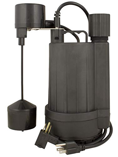(Star 1/3 HP Streamlined Submersible Sump Pump with Vertical Switch and Energy Efficient Motor, 3USV)