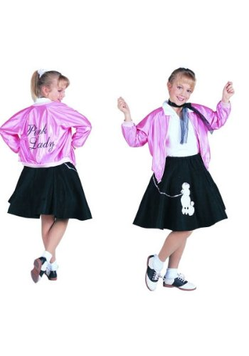 RG Costumes 50's Pink Lady Jacket, Child Large/Size 12-14 from RG Costumes