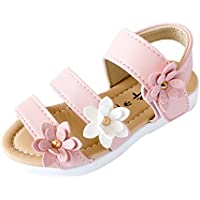 Lurryly Girls Children Big Flower Sandals,Summer Fashion Flat Pricness Shoes 1-6 T