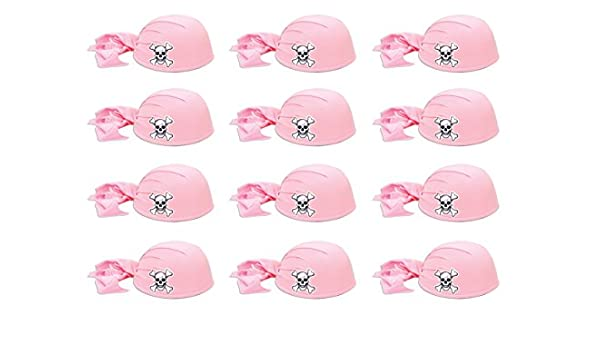 Amazon.com  Beistle 60752-P 12-Piece Pink Pirate Scarf Hat  Kitchen   Dining b30945fd997c