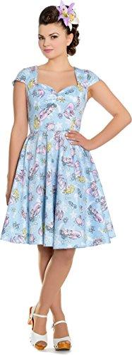Retrokleid Damen Mermaid Hell Bunny Coralia Kleid Sailor wBqZT