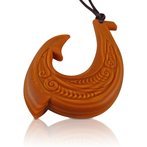 Hawaiian fish hook pendant silicone teething necklace bpa for Magical fish hook