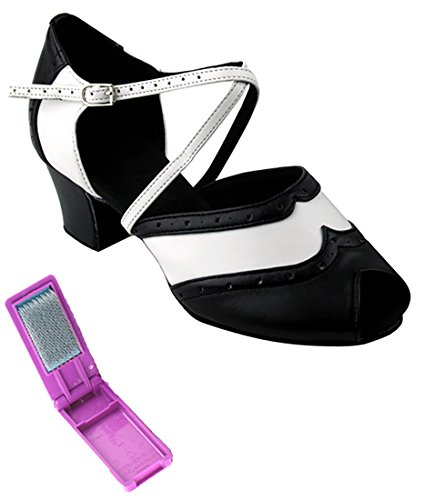 Very Fine Ballroom Latin Tango Zapatos De Baile Para Mujeres C6035 1.6 Pulgadas Heel + Paquete De Cepillo Plegable