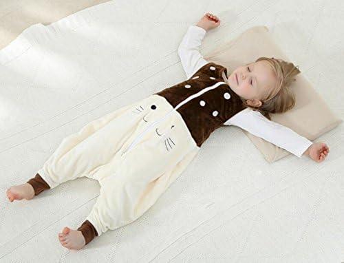 C-YOUNG Baby Girl Boy Sleepsack Flannel Wearable Blankets,Sleeveless Sleeping Bag