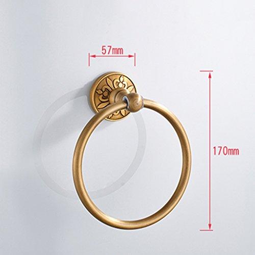 ZUOANCHEN Towel Ring European Bathroom Luxury Aluminium Oxide Towel Ring, Bathroom Towel Ring, Hotel Bathroom by ZUOANCHEN Towel Rings (Image #1)