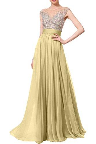 missdressy Vestido largo para mujer, gasa,verano, cuello redondo, plisado, noche, ropa de fiesta, boda, vestidos de invitados Beige