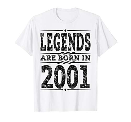 Funny Legends are born in 2001 T-Shirt 18th Birthday Gift ()