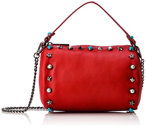 Chicca Borse 1519, Borsa a Mano Donna, 18x12x12 cm (W x H x L) Rosso (Red)