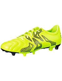 Adidas X 15.3 FG/AG Leather Yellow Mens Soccer Cleats, Size