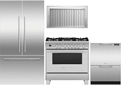 - Fisher Paykel 4 Piece Kitchen Appliance Package RS36A72J1N 36