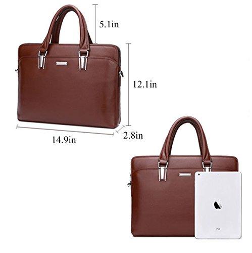 2 Black Fashion Business 2 black Genuine Men handbag Cowhide QISHI YUHUA Leather trends QISHI YUHUA22 qwxnU0U7EP