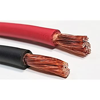 Inverter Car AC//DC WIRE 8 Gauge 8 AWG Welding Battery Pure Copper Flexible Cable Wire RV Trucks 100 ft Black + 100 ft Red