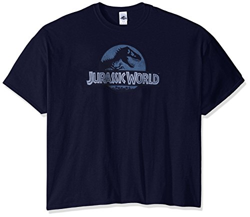 Big-Tall World Logo T-Shirt, Navy, 5X-Large (Big And Tall Parkas)