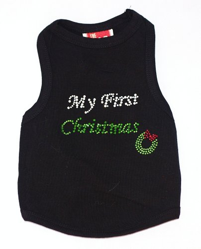 (The Dog Squad My First Christmas Tank Christmas T-Shirt for Pets, Small,)