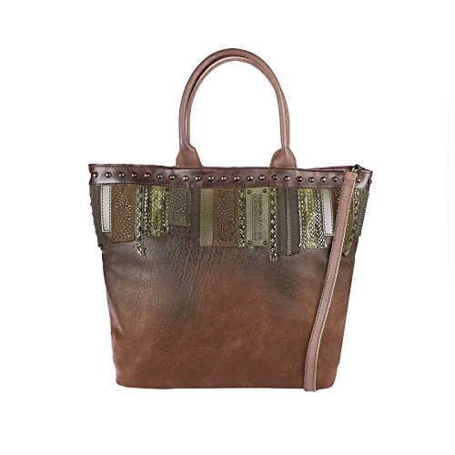 Para bxhxt Cm Mujer Ca Coñac De beautiful Tela Obc Bolso Negro Only couture 45x35x18 pFZSw77Yq