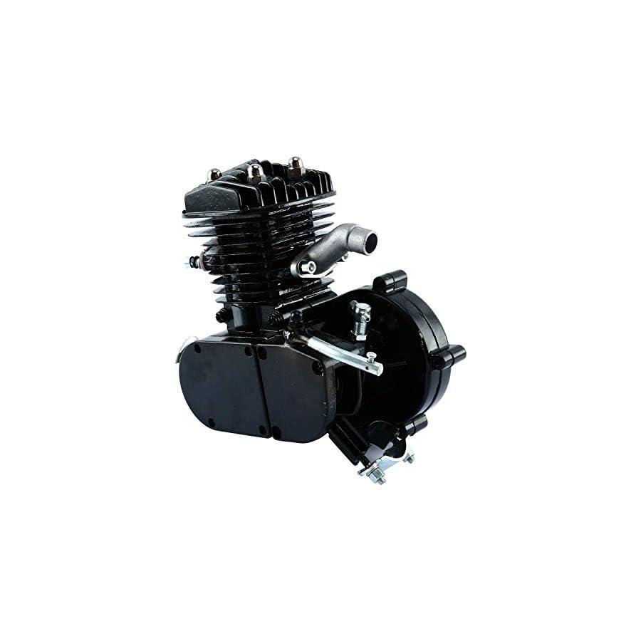 YaeCCC Upgraded 80cc 2 Stroke Motor Engine Kit Gas for Motorized Bicycle Bike Black