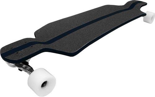 TGM Skateboards Black Pinstripe Freestyle Drop CONCAVE Longboard Freeride Cruiser Downhill Slide (Best Freestyle Freeride Longboard)