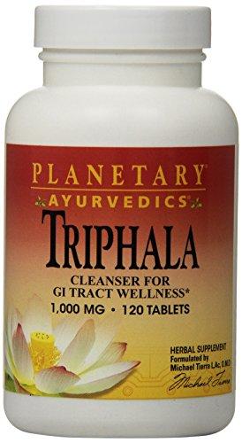 Ayurvedics, Triphala, 1,000 mg, 120 Tablets - Planetary Herbals - Qty 1