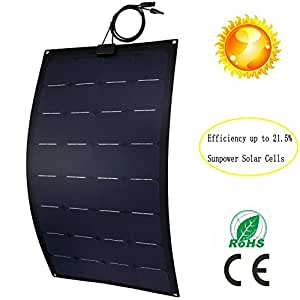 Greesonic Solar Panels 100w Flexible Solar Panel Thin Film