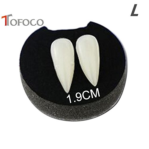 Trolax(TM) 4 Size Zombie Vampire Tooth Caps Fangs Teeth Props Evil Halloween Party Horror Movie Costume Cosplay Toy With Box
