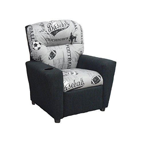 Brazil Furniture Children's Home Theater Recliner with Cupholder