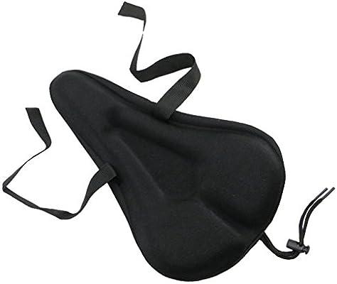 Sportixx Bike Seat Cover Exercise Bicycle Saddle Cushion Gel Soft Pad Black New