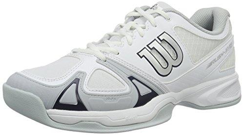 Wilson Rush Evo Carpet Wh/Pearl Blue/Ny 7, Scarpe da Tennis Uomo, Bianco (White/Pearl Blue/Navy), 41 EU