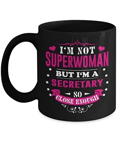 Secretary Mug Secretary Coffee Mug Funny Beer Best Legal Day School Travel Gifts From Kids Dad Wife Mom Friends as Seen on T Shirt 11 Ounce Black Cer