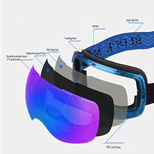 Esquí Gafas De E Alta d Lentes Y Unisex Antivaho Definición Campo Gsdzn Visión Amplio Doble Uv Capa xSHE4Hdw