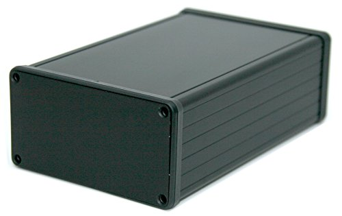 BOX3-1455N-BK Black Aluminum Box, For 3U Sized PCBs, With 11 Card Guide Slots, Box = 6.30 x 4.06 x 2.10 in