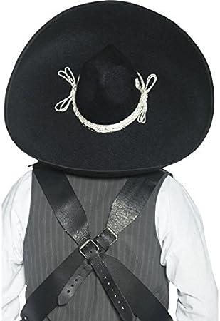 Sombrero de auténtico bandido mexicano, negro