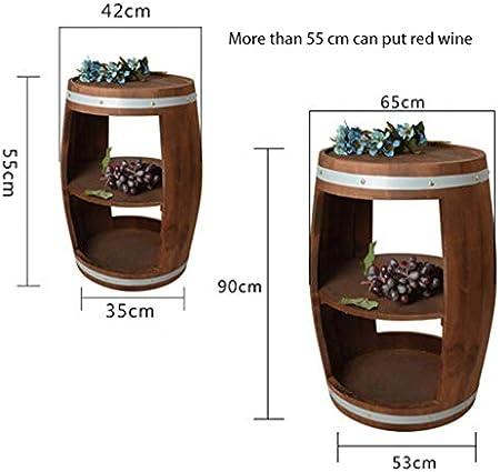 AA+ Creativo barril de roble vinoteca gabinete del vino estante de madera sólida exhibición del gabinete del vino apoyos de la boda barril de roble vinoteca decoración del barril de roble creativo bar