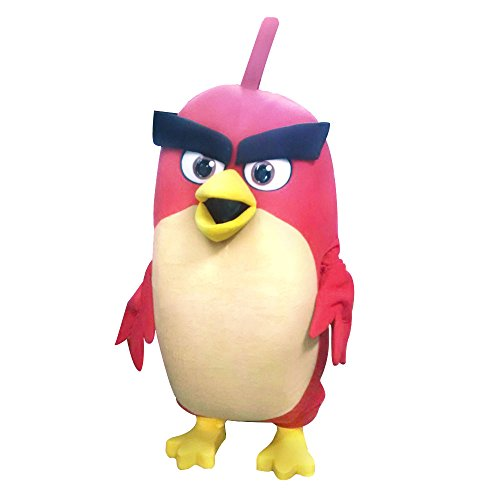 Angry Birds Red Mascot Costume Movie Adult Party Halloween Cosplay Video - Game Video Character Cosplay