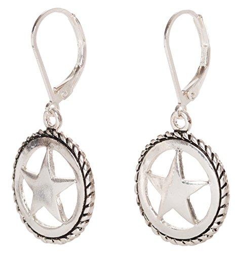 Artisan Owl - Texas Star Western Dangle Earrings