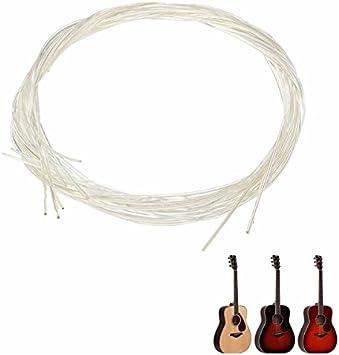 LaDicha Set De 6 Cuerdas De Nylon Blanco para Guitarra Clásica ...