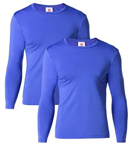 - LAPASA Men's Lightweight Thermal Underwear Tops Fleece Lined Base Layer Long Sleeve Shirts 2 Pack M09 (Medium, Blue)